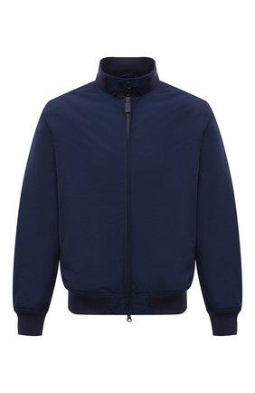 Мужской бомбер ASPESI темно-синего цвета, арт. S1 I I918 G703 | Фото 1 (Кросс-КТ: Куртка; Рукава: Длинные; Принт: Без принта; Материал внешний: Синтетический материал; Материал подклада: Синтетический материал; Длина (верхняя одежда): Короткие; Стили: Кэжуэл)