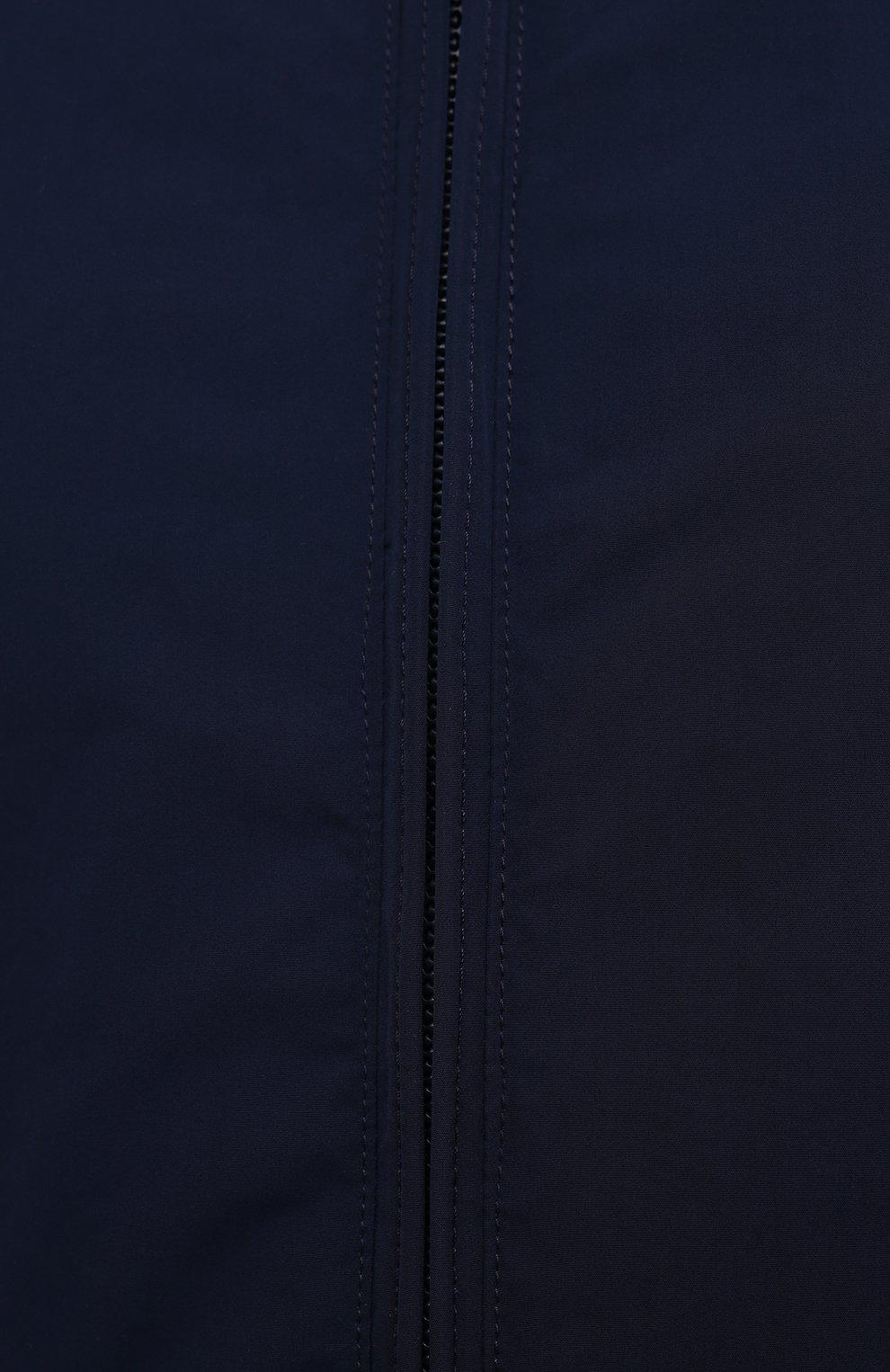 Мужской бомбер ASPESI темно-синего цвета, арт. S1 I I918 G703 | Фото 5 (Кросс-КТ: Куртка; Рукава: Длинные; Принт: Без принта; Материал внешний: Синтетический материал; Материал подклада: Синтетический материал; Длина (верхняя одежда): Короткие; Стили: Кэжуэл)