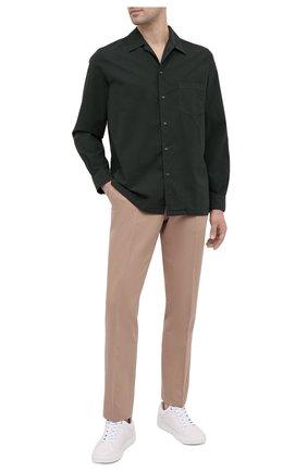 Мужская хлопковая рубашка ASPESI зеленого цвета, арт. S1 A CE53 G329 | Фото 2