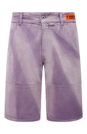 Мужские джинсовые шорты HERON PRESTON фиолетового цвета, арт. HMCB009S21FAB0023500   Фото 1