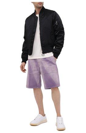 Мужские джинсовые шорты HERON PRESTON фиолетового цвета, арт. HMCB009S21FAB0023500   Фото 2