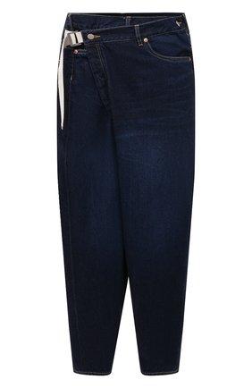 Мужские джинсы KAZUYUKI KUMAGAI темно-синего цвета, арт. KP11-016 | Фото 1 (Стили: Гранж; Кросс-КТ: Деним; Силуэт М (брюки): Широкие; Материал внешний: Хлопок; Длина (брюки, джинсы): Укороченные)