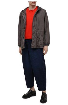Мужские джинсы KAZUYUKI KUMAGAI темно-синего цвета, арт. KP11-016 | Фото 2 (Стили: Гранж; Кросс-КТ: Деним; Силуэт М (брюки): Широкие; Материал внешний: Хлопок; Длина (брюки, джинсы): Укороченные)
