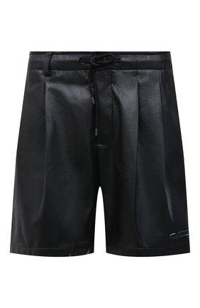Мужские шорты KAZUYUKI KUMAGAI черного цвета, арт. AP11-254 | Фото 1 (Длина Шорты М: До колена; Принт: Без принта; Мужское Кросс-КТ: Шорты-одежда; Материал внешний: Синтетический материал; Материал подклада: Синтетический материал; Стили: Минимализм)