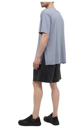 Мужские шорты KAZUYUKI KUMAGAI черного цвета, арт. AP11-254 | Фото 2 (Длина Шорты М: До колена; Принт: Без принта; Мужское Кросс-КТ: Шорты-одежда; Материал внешний: Синтетический материал; Материал подклада: Синтетический материал; Стили: Минимализм)