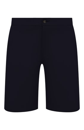 Мужские хлопковые шорты HARRIS WHARF LONDON темно-синего цвета, арт. C3003PBR | Фото 1 (Стили: Кэжуэл; Мужское Кросс-КТ: Шорты-одежда; Длина Шорты М: До колена; Материал внешний: Хлопок; Принт: Без принта)
