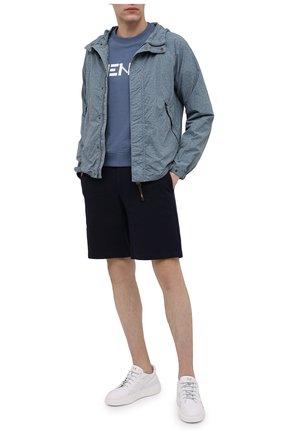 Мужские хлопковые шорты HARRIS WHARF LONDON темно-синего цвета, арт. C3003PBR | Фото 2 (Стили: Кэжуэл; Мужское Кросс-КТ: Шорты-одежда; Длина Шорты М: До колена; Материал внешний: Хлопок; Принт: Без принта)