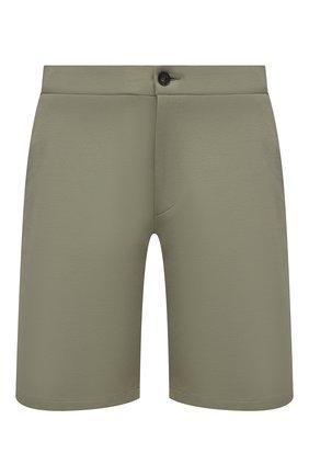 Мужские хлопковые шорты HARRIS WHARF LONDON хаки цвета, арт. C3003PBR | Фото 1