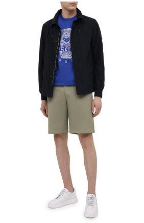 Мужские хлопковые шорты HARRIS WHARF LONDON хаки цвета, арт. C3003PBR | Фото 2