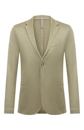 Мужской льняной пиджак HARRIS WHARF LONDON салатового цвета, арт. C8P22PED | Фото 1