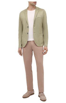 Мужской льняной пиджак HARRIS WHARF LONDON салатового цвета, арт. C8P22PED | Фото 2