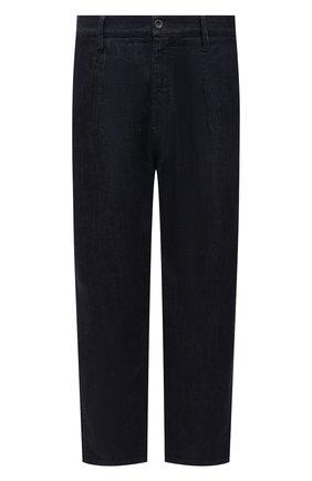 Мужские джинсы GIORGIO ARMANI темно-синего цвета, арт. 3KSP61/SD0TZ | Фото 1 (Длина (брюки, джинсы): Стандартные; Силуэт М (брюки): Широкие; Материал внешний: Хлопок; Кросс-КТ: Деним; Стили: Кэжуэл)