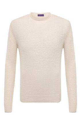 Мужской свитер из шелка и льна RALPH LAUREN кремвого цвета, арт. 790825024 | Фото 1