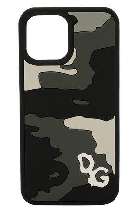 Чехол для iphone 12 pro max DOLCE & GABBANA серого цвета, арт. BP2908/A0266 | Фото 1