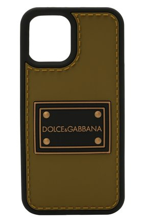 Чехол для iphone 12/12 pro DOLCE & GABBANA хаки цвета, арт. BP2907/A0274 | Фото 1