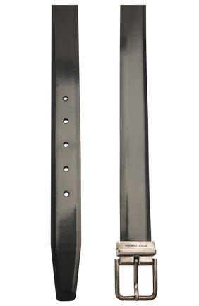 Мужской кожаный ремень DOLCE & GABBANA черного цвета, арт. BC4216/AI105 | Фото 2