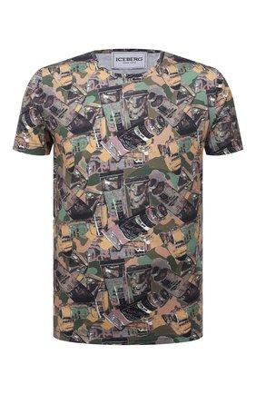 Мужская хлопковая футболка ICEBERG разноцветного цвета, арт. 21E I1P0/F018/6301 | Фото 1