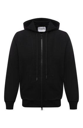 Мужской хлопковая толстовка ICEBERG черного цвета, арт. 21E I1P0/E070/6300 | Фото 1