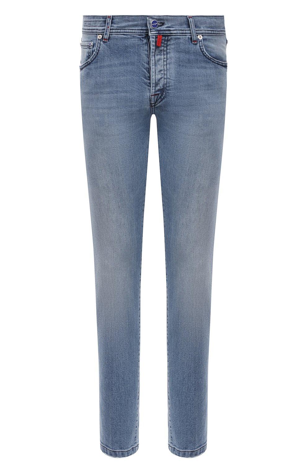 Мужские джинсы KITON голубого цвета, арт. UPNJS/J07T22   Фото 1
