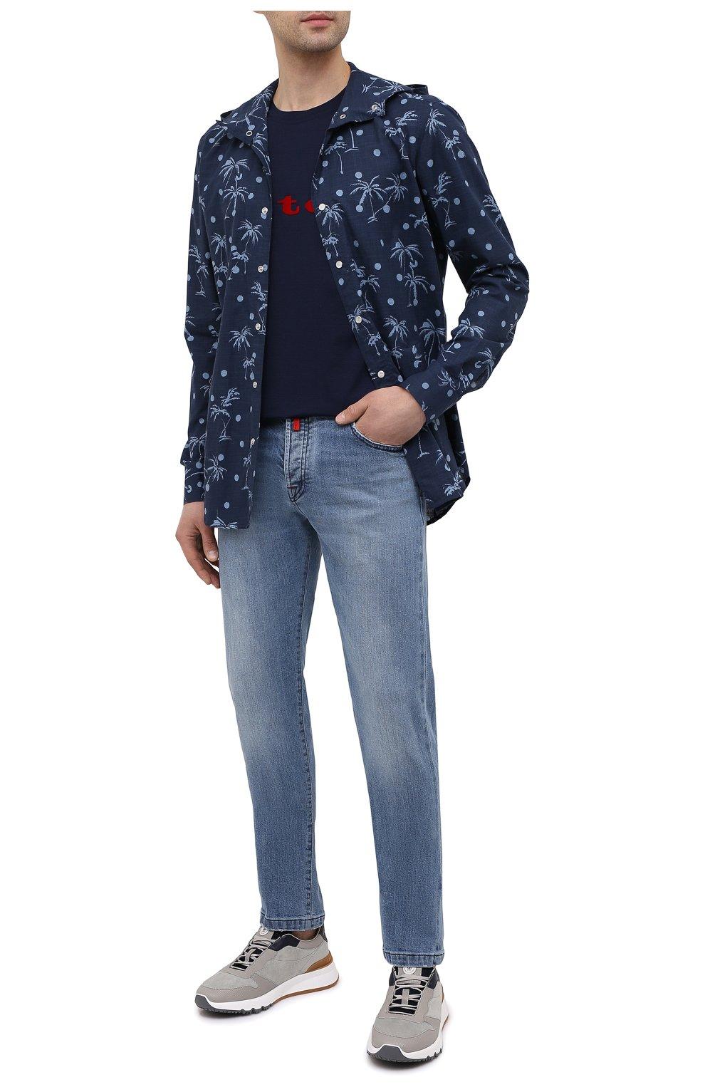 Мужские джинсы KITON голубого цвета, арт. UPNJS/J07T22   Фото 2