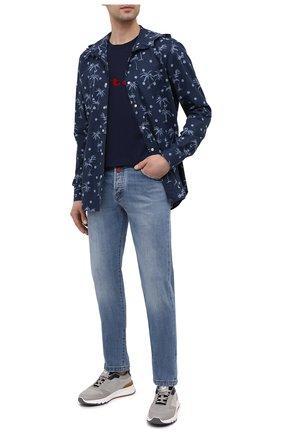 Мужские джинсы KITON голубого цвета, арт. UPNJS/J07T22 | Фото 2
