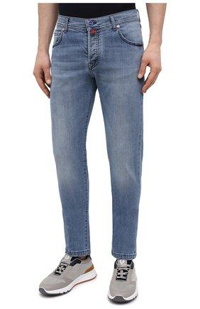 Мужские джинсы KITON голубого цвета, арт. UPNJS/J07T22   Фото 3