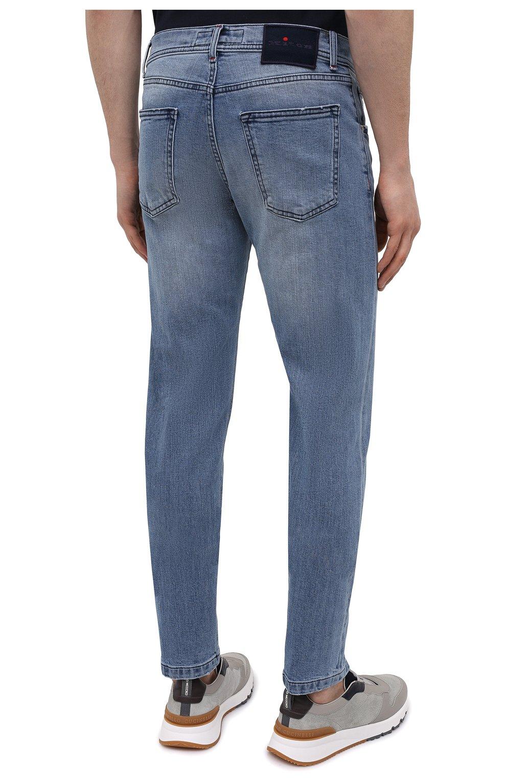 Мужские джинсы KITON голубого цвета, арт. UPNJS/J07T22   Фото 4