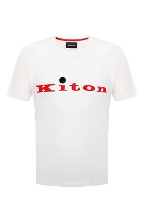 Мужская хлопковая футболка KITON белого цвета, арт. UK1164 | Фото 1
