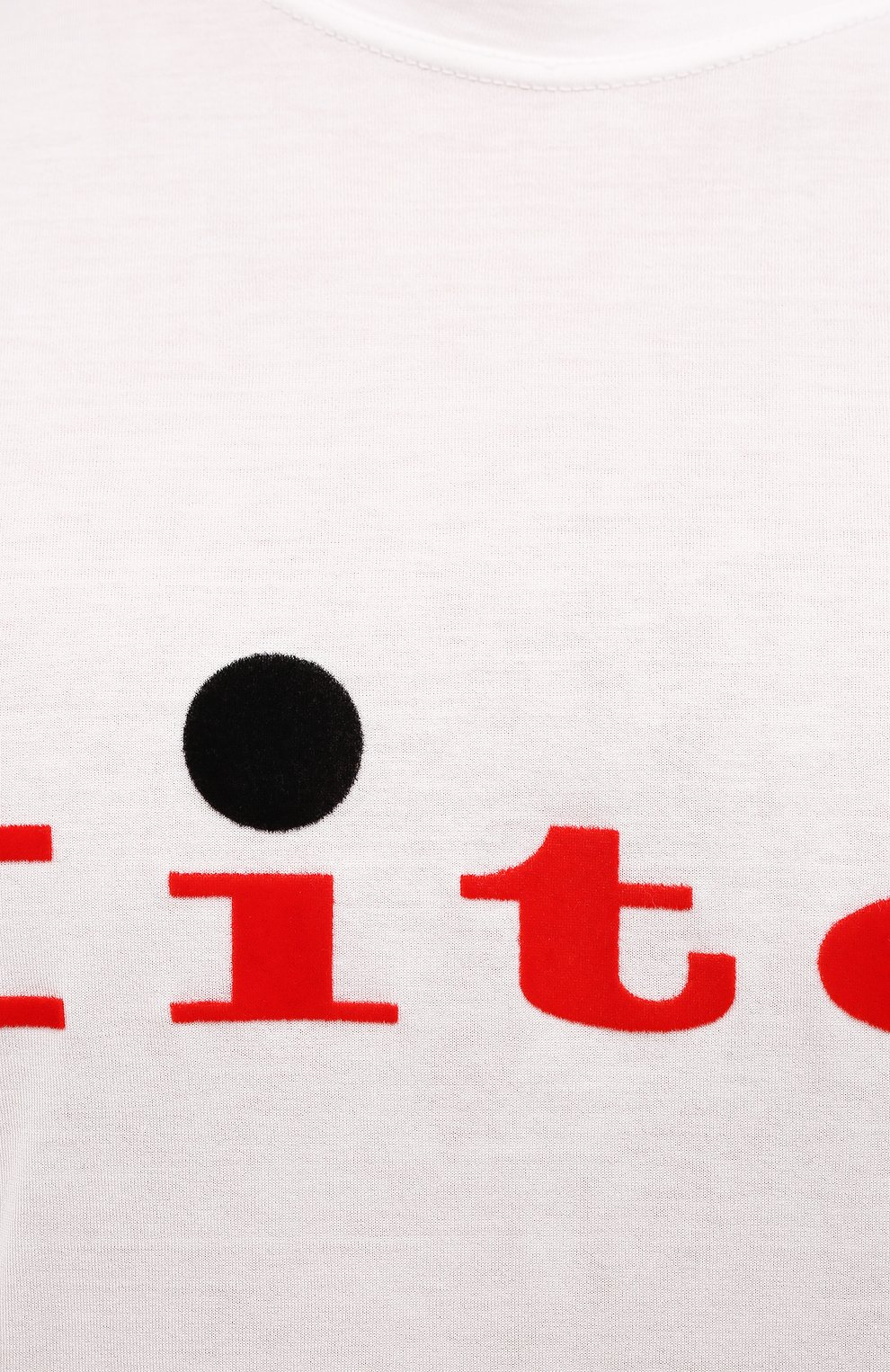 Мужская хлопковая футболка KITON белого цвета, арт. UK1164   Фото 5