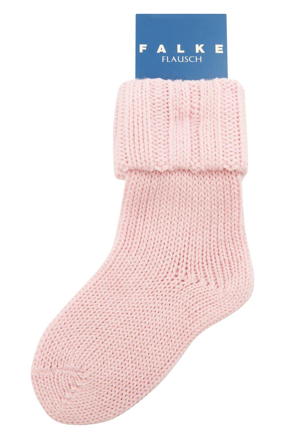 Детские хлопковые носки FALKE светло-розового цвета, арт. 10408.   Фото 1