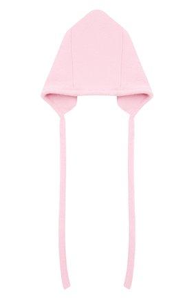 Детского шерстяная шапка WOOL&COTTON розового цвета, арт. VMLCA | Фото 2