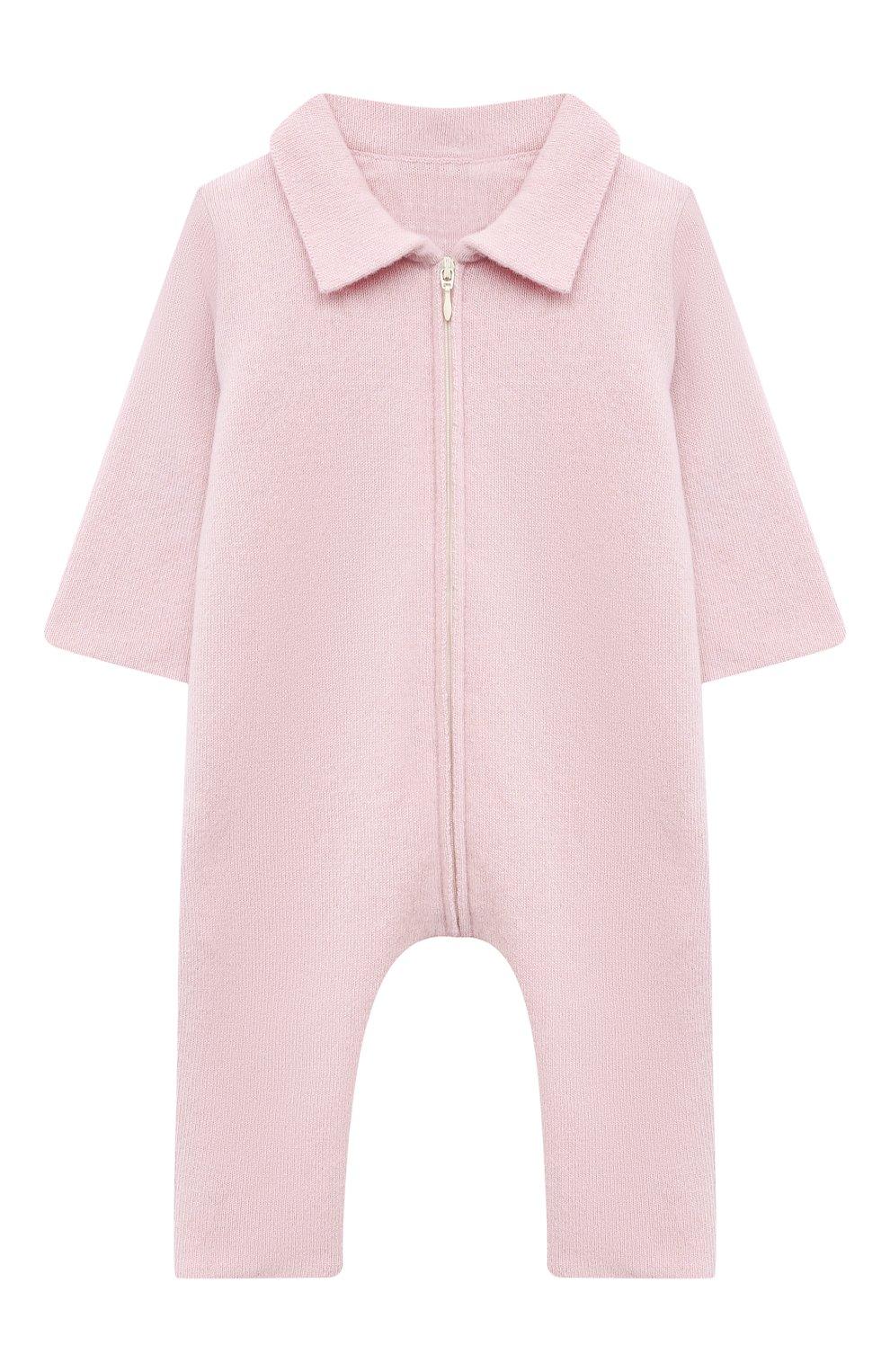 Детский кашемировый комбинезон WOOL&COTTON розового цвета, арт. KMLBR   Фото 1