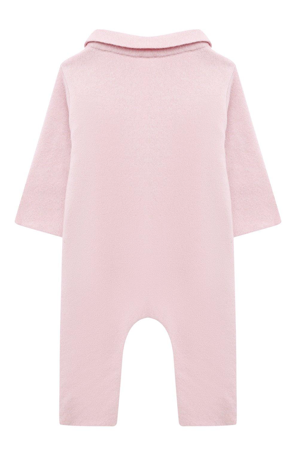Детский кашемировый комбинезон WOOL&COTTON розового цвета, арт. KMLBR   Фото 2