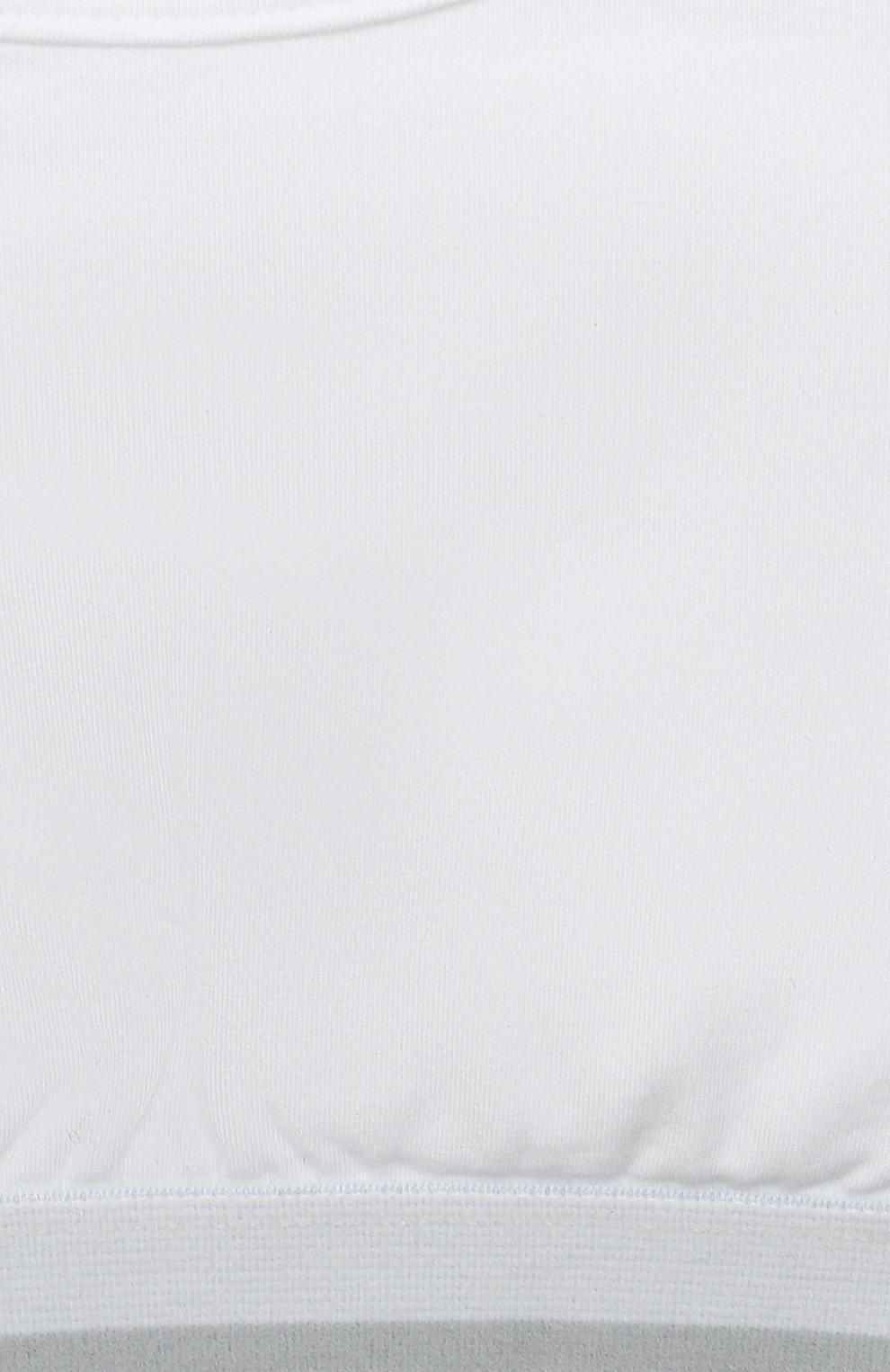 Детский бра-топ SANETTA белого цвета, арт. 346630. | Фото 3
