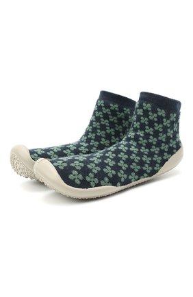 Детского домашние туфли COLLEGIEN зеленого цвета, арт. 110D/36-39 | Фото 1 (Материал внешний: Текстиль; Материал внутренний: Текстиль)