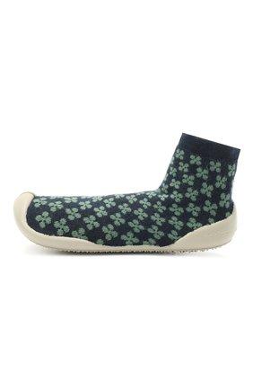 Детского домашние туфли COLLEGIEN зеленого цвета, арт. 110D/36-39 | Фото 2 (Материал внешний: Текстиль; Материал внутренний: Текстиль)