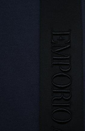 Детского комплект из футболки и шорт EMPORIO ARMANI синего цвета, арт. 3K4VJG/4JJGZ | Фото 6 (Рукава: Короткие; Материал внешний: Хлопок; Мальчики Кросс-КТ: Костюмы-спорт; Ростовка одежда: 10 - 11 лет | 140 - 146см, 13 - 15 лет | 158 см, 16 лет | 164 см, 4 года | 104 см, 5 лет | 110 см, 6 лет | 116 см, 7 лет | 122 см, 8 лет | 128 см)