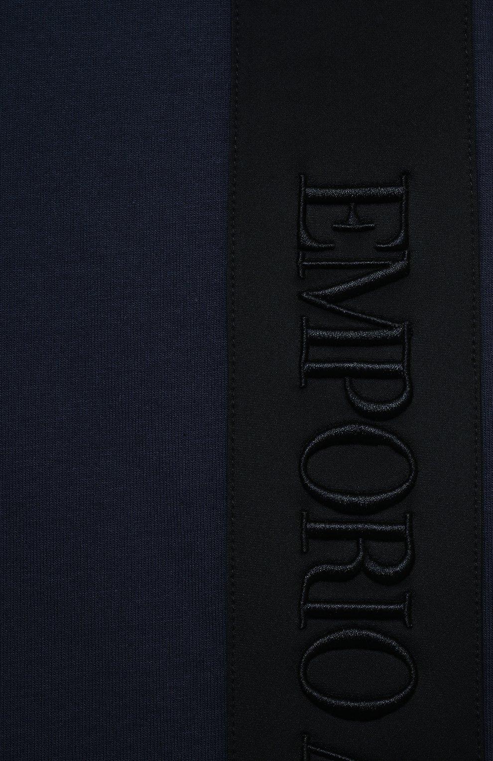 Детского комплект из футболки и шорт EMPORIO ARMANI темно-синего цвета, арт. 3K4VJG/4JJGZ | Фото 6 (Рукава: Короткие; Материал внешний: Хлопок; Мальчики Кросс-КТ: Костюмы-спорт; Ростовка одежда: 10 - 11 лет | 140 - 146см, 13 - 15 лет | 158 см, 16 лет | 164 см, 4 года | 104 см, 5 лет | 110 см, 6 лет | 116 см, 7 лет | 122 см, 8 лет | 128 см)