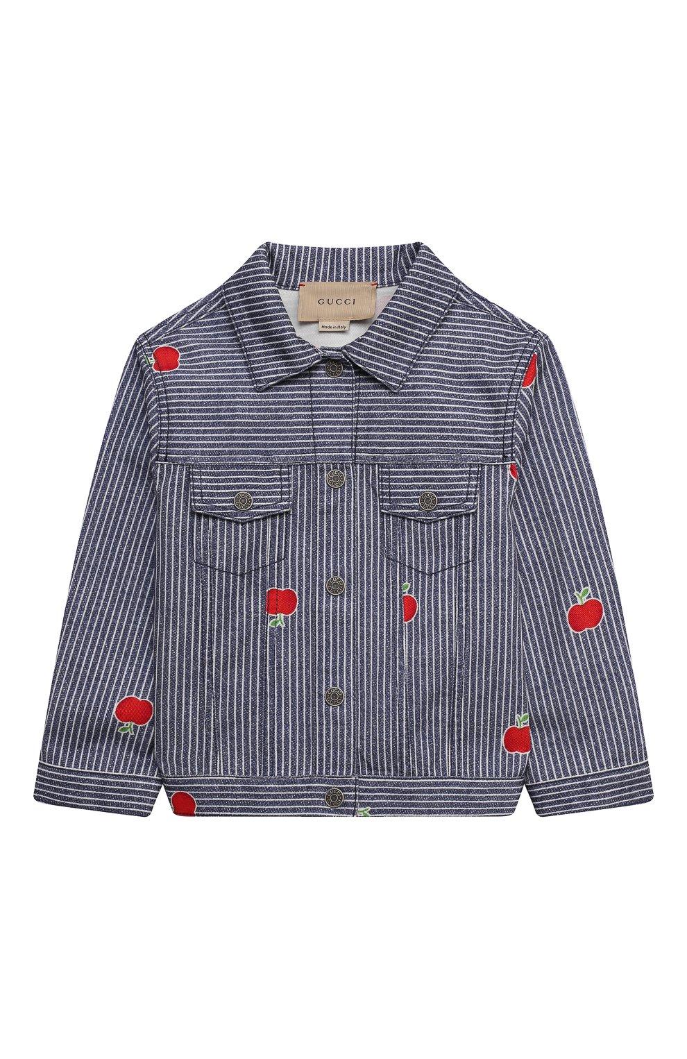 Детского джинсовая куртка GUCCI голубого цвета, арт. 650103/XDBKY   Фото 1