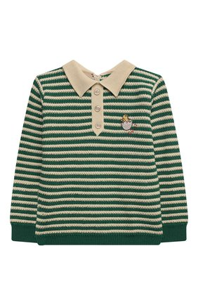 Детский пуловер из шерсти и хлопка GUCCI зеленого цвета, арт. 639462/XKBN2 | Фото 1