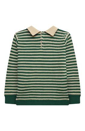 Детский пуловер из шерсти и хлопка GUCCI зеленого цвета, арт. 639462/XKBN2 | Фото 2