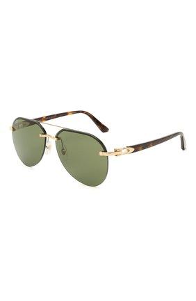 Мужские солнцезащитные очки CARTIER зеленого цвета, арт. CT0275SA 002 | Фото 1