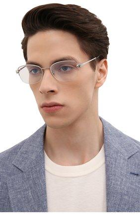 Мужские оправа CARTIER серебряного цвета, арт. CT0235 002 | Фото 2 (Оптика Гендер: оптика-мужское; Тип очков: Оправа; Очки форма: Овальные)