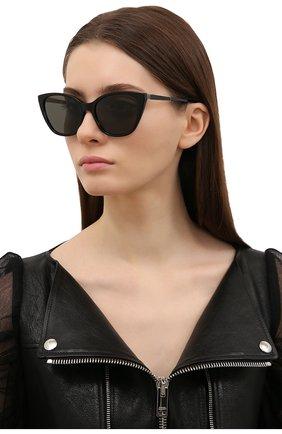 Женские солнцезащитные очки SAINT LAURENT черного цвета, арт. SL M69 004 | Фото 2