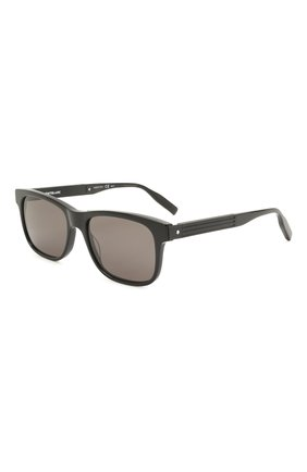 Мужские солнцезащитные очки MONTBLANC черного цвета, арт. MB0163S 001 | Фото 1