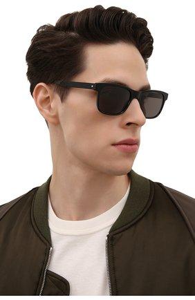 Мужские солнцезащитные очки MONTBLANC черного цвета, арт. MB0163S 001 | Фото 2