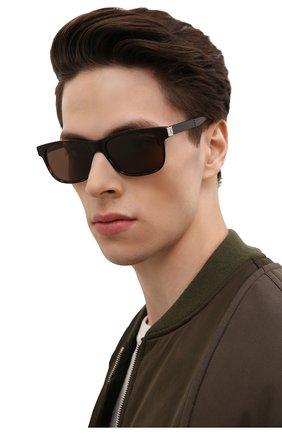 Мужские солнцезащитные очки MONTBLANC коричневого цвета, арт. MB0163S 002 | Фото 2