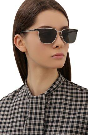 Женские солнцезащитные очки SAINT LAURENT черного цвета, арт. SL 428 001 | Фото 2