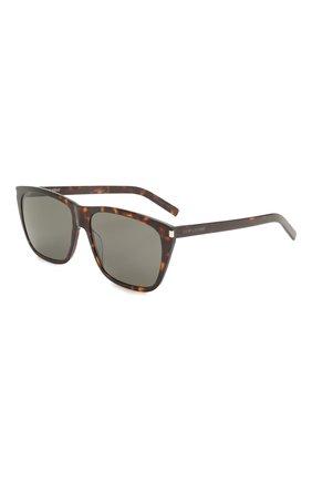 Женские солнцезащитные очки SAINT LAURENT коричневого цвета, арт. SL 431 SLIM 002 | Фото 1