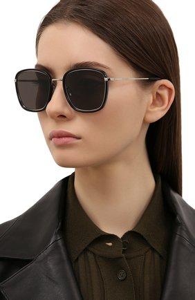 Женские солнцезащитные очки SAINT LAURENT черного цвета, арт. SL 440/F 001 | Фото 2